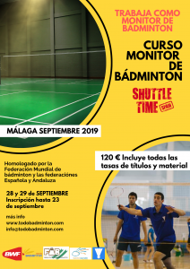 Curso de Monitor de Bádminton - Shuttle Time