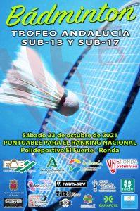 Trofeo Andalucía Sub-13 y Sub-17 - 4º Jornada - NUEVA FECHA